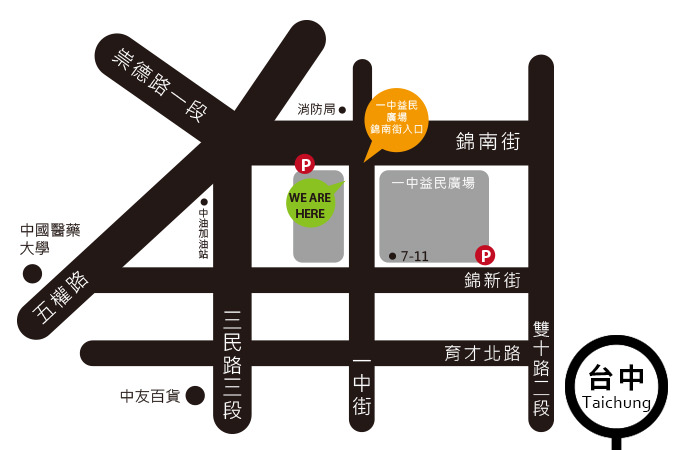 taichung map